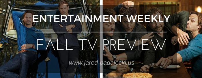 Photos + Video: Supernatural wins the EW Fall TV Preview Cover